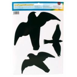 Fågel siluetter - dekal